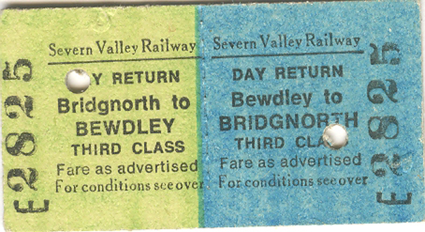 Severn Valley Railway Ticket No. E2825