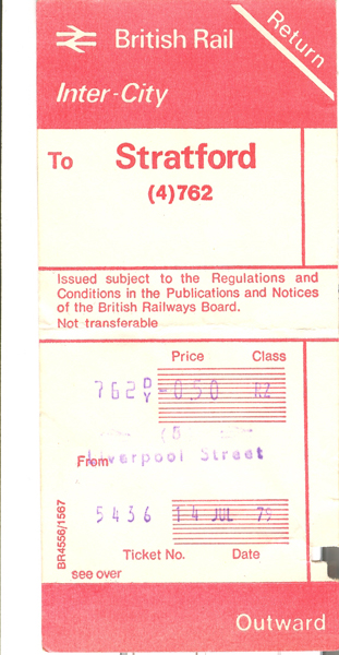 Return Ticket Liverpool Street Front