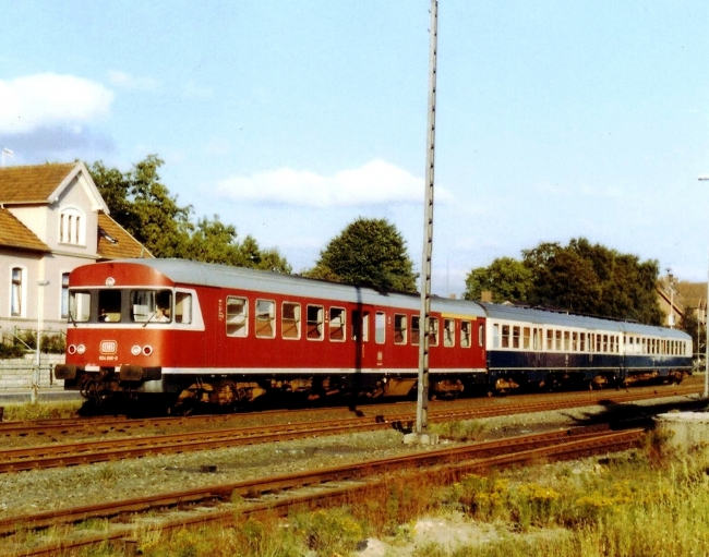 Class 624 Dieselhydraulics in Jever/ Northwest-Germany 1988