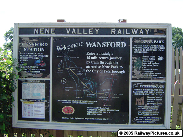 Wansford Station Welcome Sign