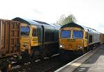 Freightliner 66's at Wakefield