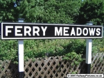 Ferry Meadows Station Sign