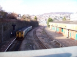 Looking Northward from Pontypridd station footbridge