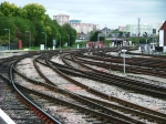 Tracks leading to Temple Meads